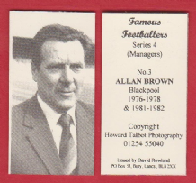 Blackpool Allan Brown (S)